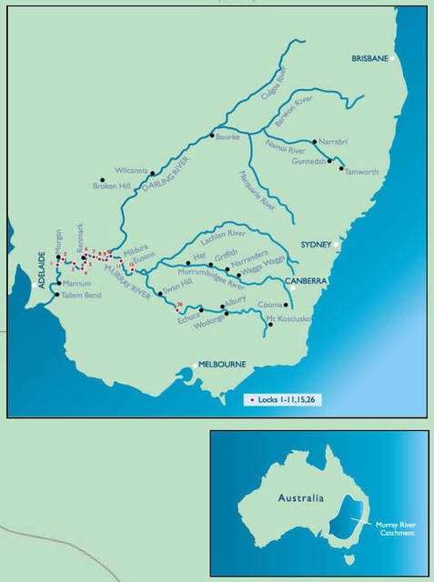 Map Of Australia Murray River.Murray River Captain Cook Cruises